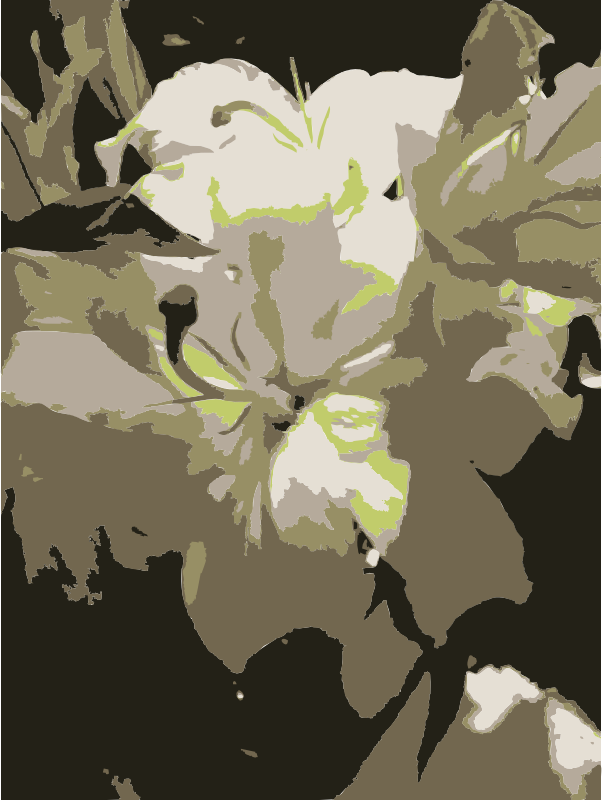 Crazy detailed aiflowers by rejon - Close-up of flowers, vector traced photograph