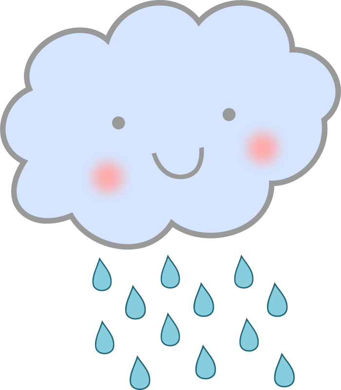 clipart cute rain cloud rh openclipart org rain cloud clipart black and white rain cloud outline clip art