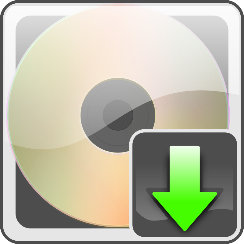 download button with cd by Keistutis