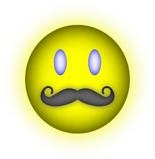 Happy Face Mustache by kaleah777 - Happy Face Mustache