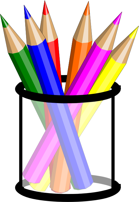 Pencil Cup by hsayin32 - Cup filled with colored pencils