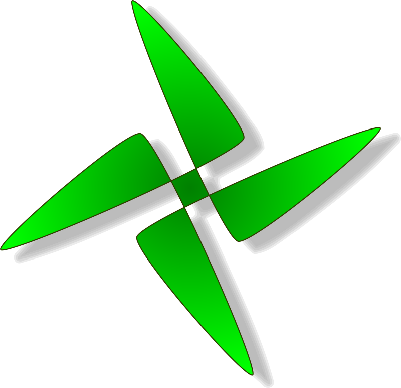 symbol by tomas_arad - green zvastick like crux, good for use to trash icon e.g. or bullet or anything else