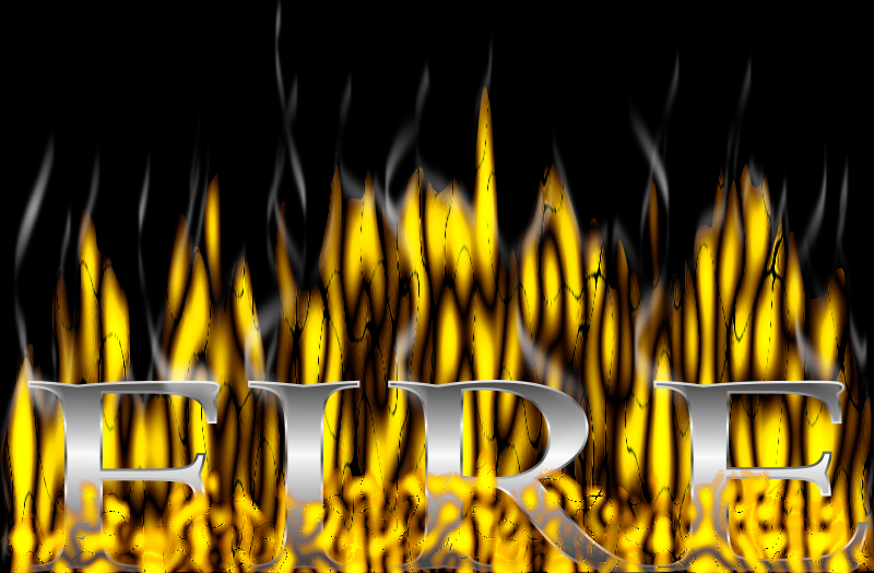 Fire and Smoke Filter by Chrisdesign - Fire text with flames.