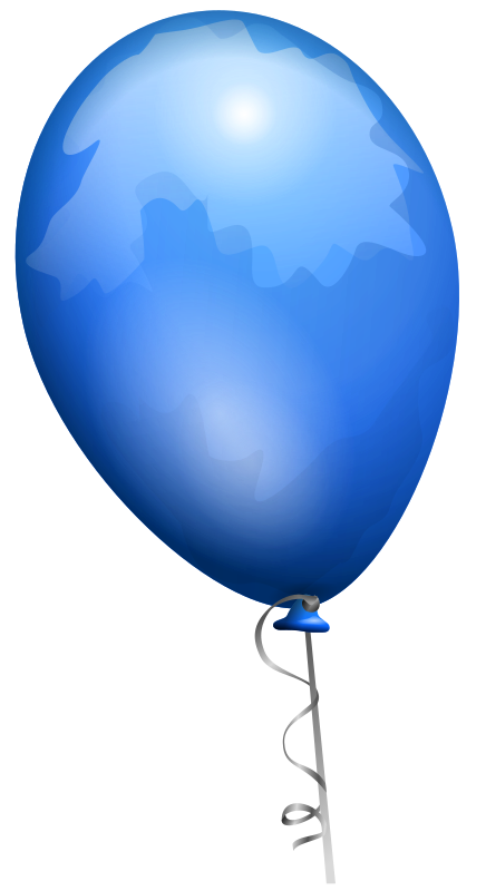 Clipart - Blue balloon