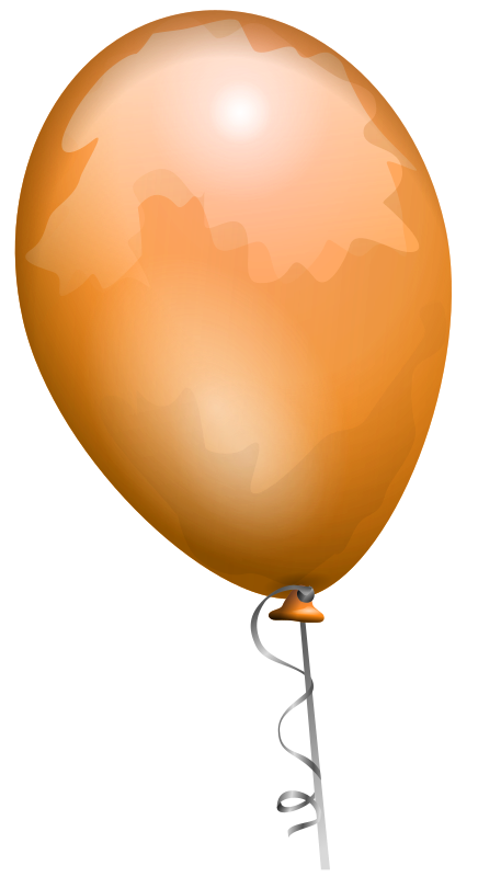 balloon 2 by AJ - orange balloon