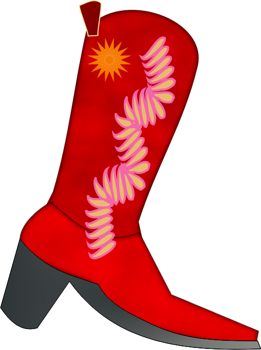 Clipart - Red Santiag for women