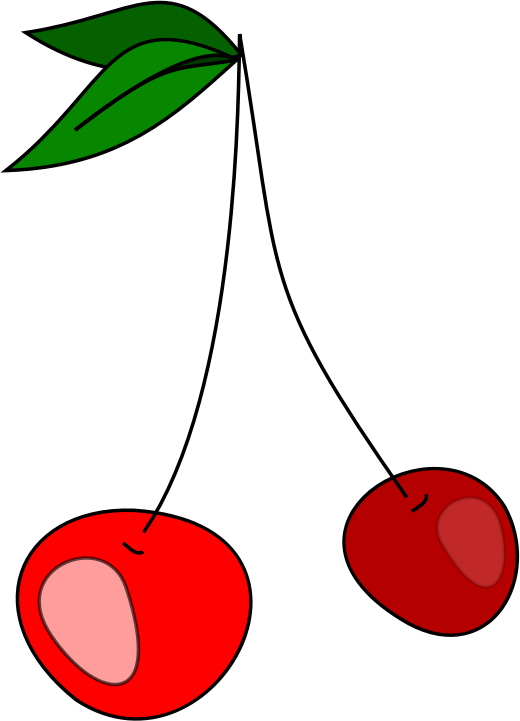 Cherry by Snus_Murka - A simple drawing of cherries.
