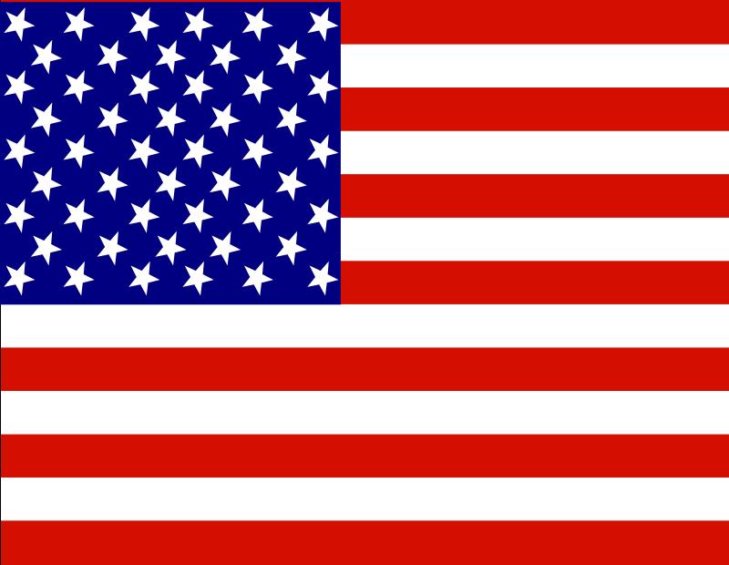 Clipart - U.S.A. Flag