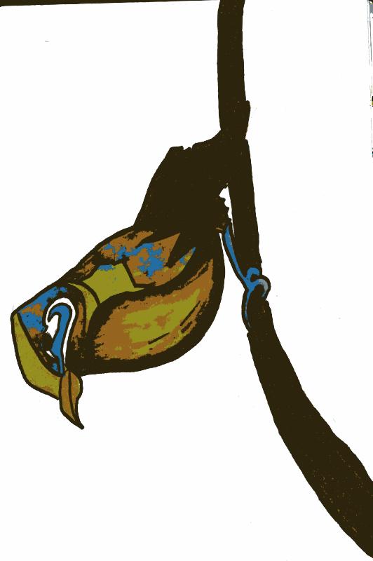 Clipart - Bird sitting on branch