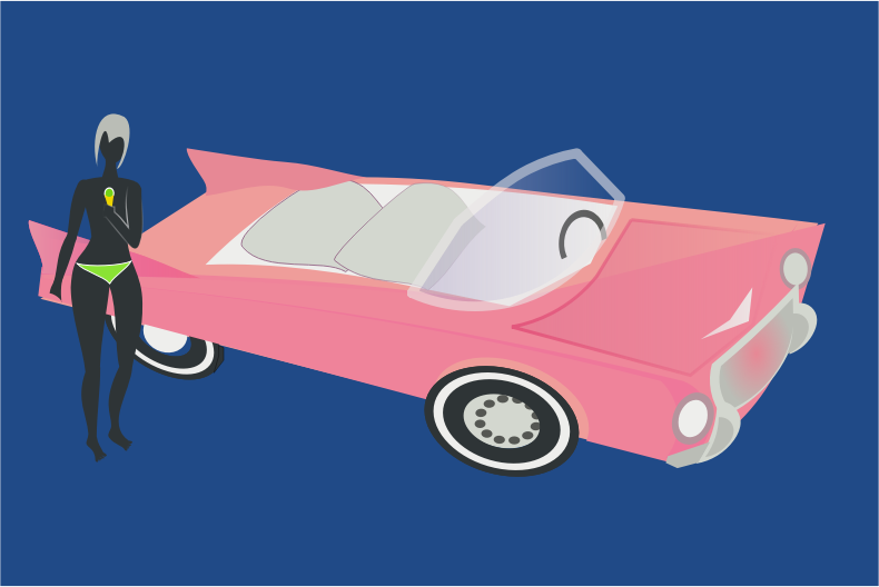 pink cadillac by chatard
