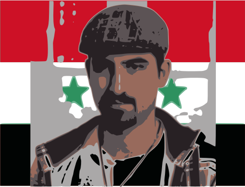 Freebassel with syria flag  by jykhui - Bassel images from Bassel's  twitter,  #freebassel