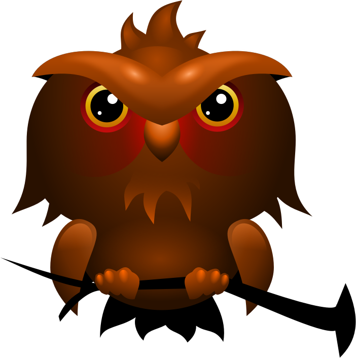 Owl by rematuche - messin around with gradients in inkscape