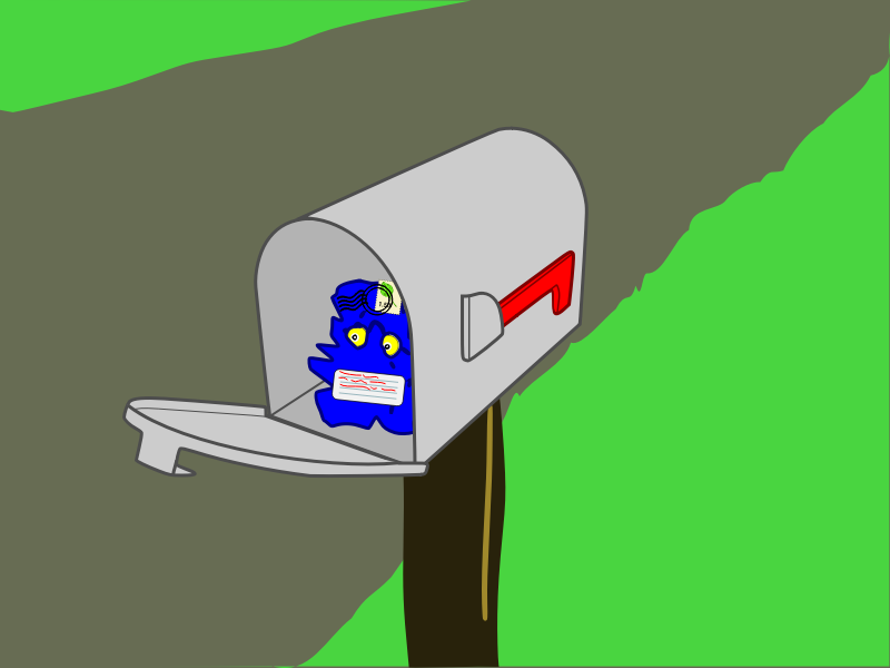 Mailbox Surprise by mazeo - An unusual package is found in an opened mailbox.