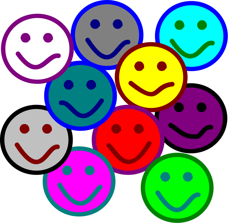 Smiles by mazeo - A group of smiley faces.
