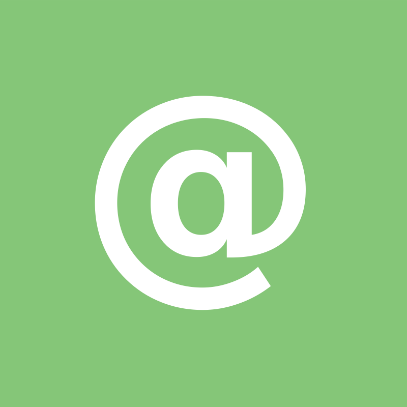 "email square by pnoq - An ""at"" (@) sign in a square for email usually it is used."