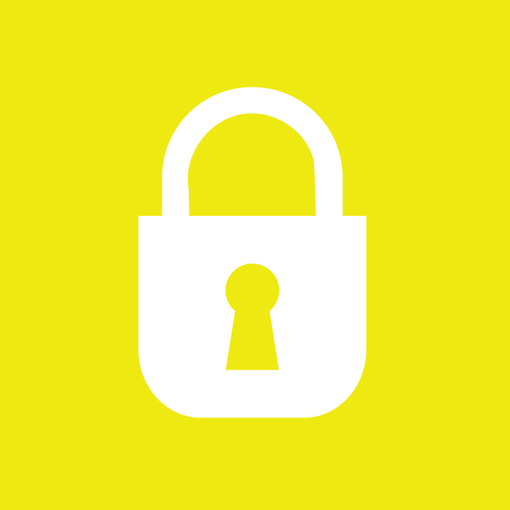 padlock square by pnoq - A square padlock icon.