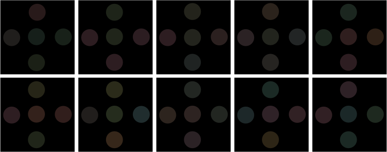 test of color blindness by chatard - City University Colour Vision Test (CUVT).