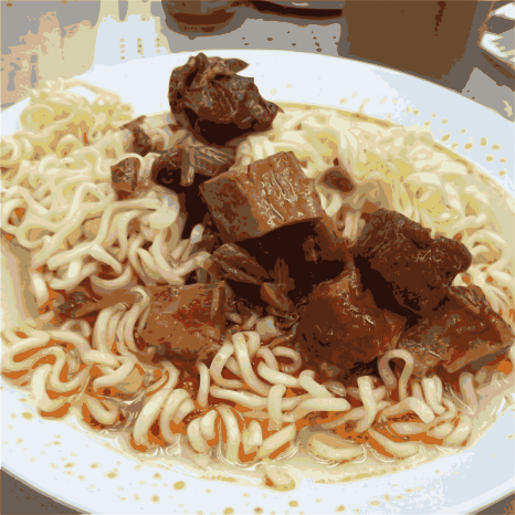spiced pork cube Instant noodle by jykhui - Hong Kong food collection spiced pork cube Instant noodle