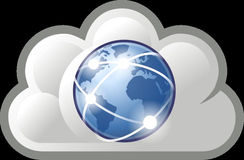 Internet cloud graphic