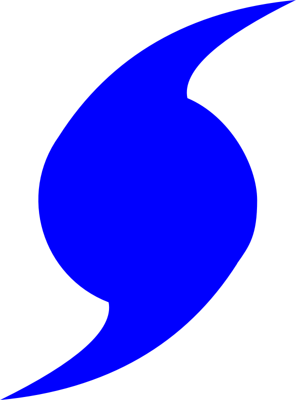 Hurricane Symbol by TheByteMan - The represented hurricane symbol used in weather notations.