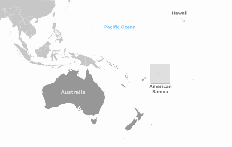 American Samoa location labeled by wpclipart - Country location