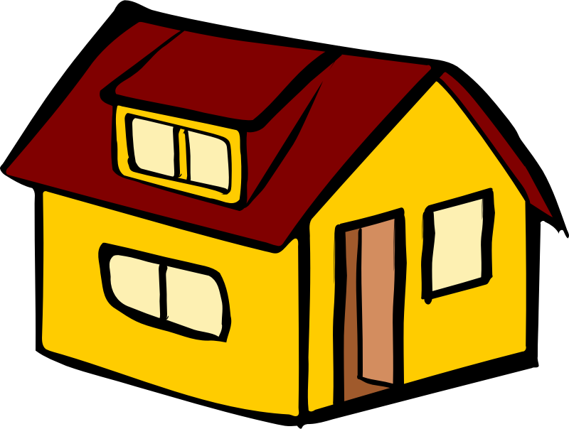 Clipart - Yellow detached house