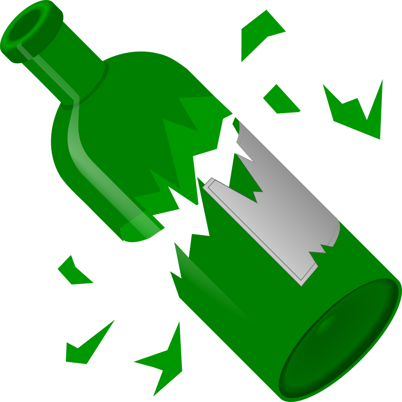 Clipart - Broken Bottle