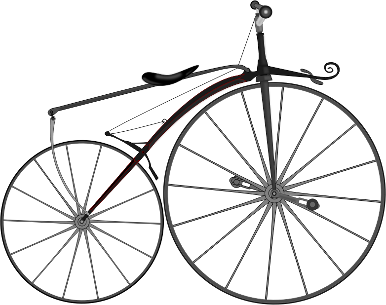 1863 Boneshaker Bike by luc - The first bike using cranks and pedals.