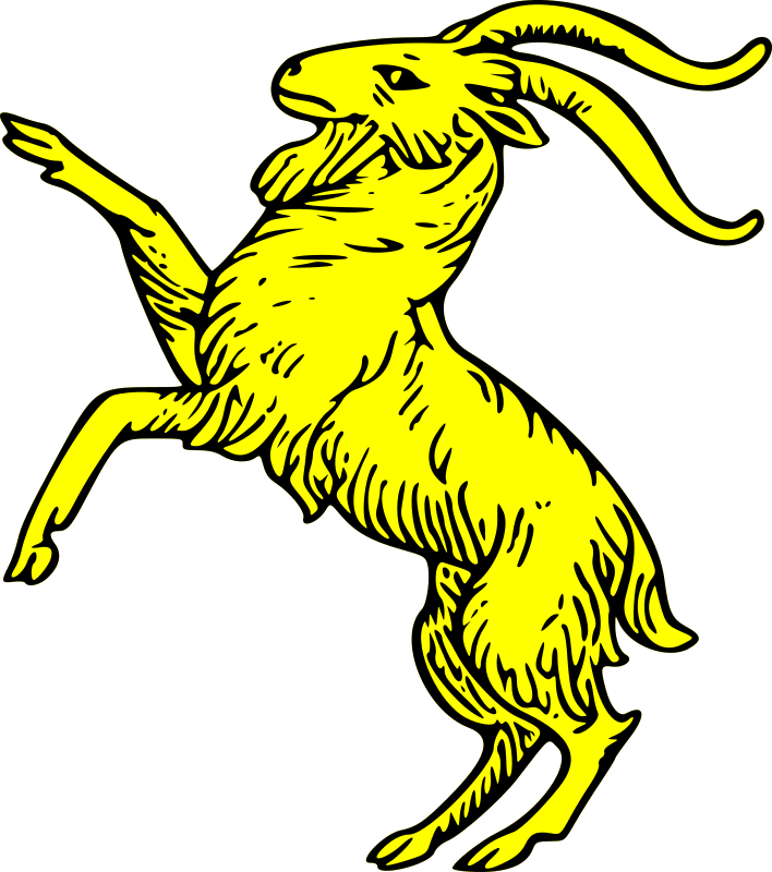 goat rampant by szquirrel - A Complete Guide to Heraldry by Arthur Charles Fox-Davies 1909