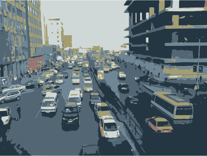 Damascus Traffic Before War by rejon
