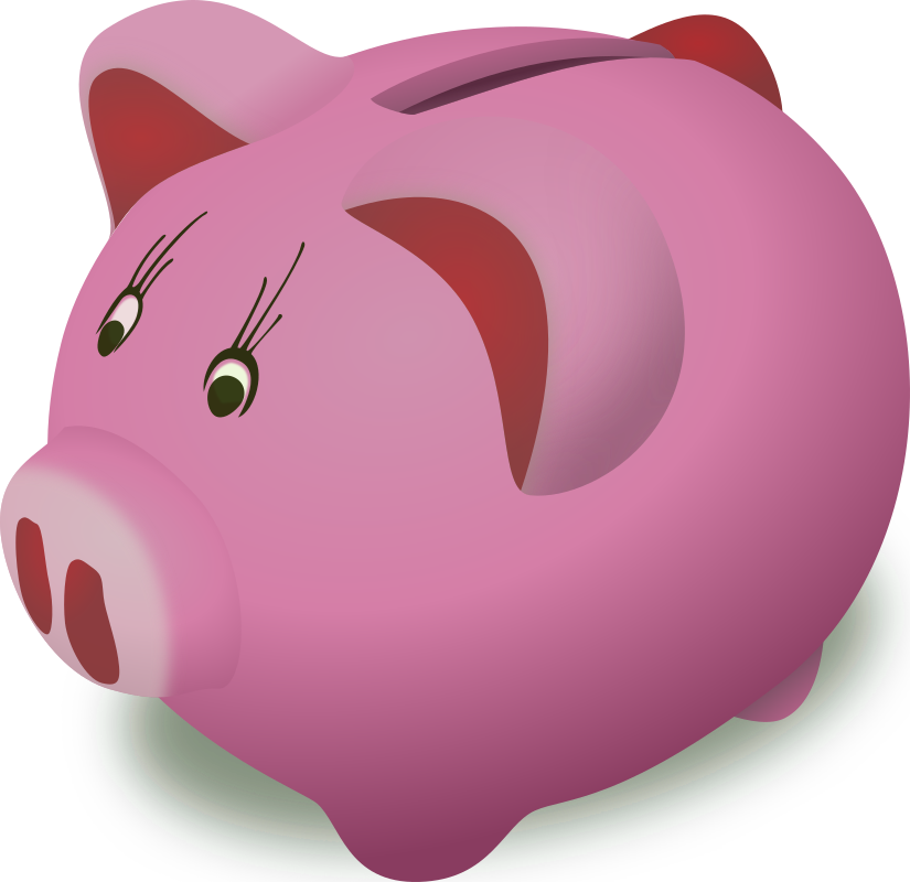 Piggybank-pink by gringer - Generated based on DooFi's Piggybank, just removed speech bubble and changed hue of all green gradients to 235 in Inkscape.