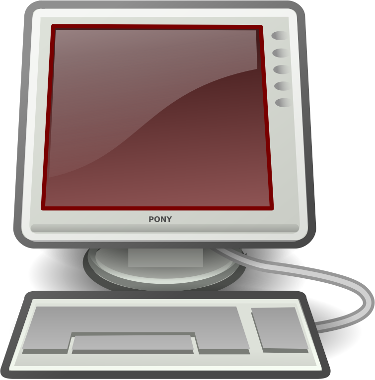 Clipart Tango Computer Red