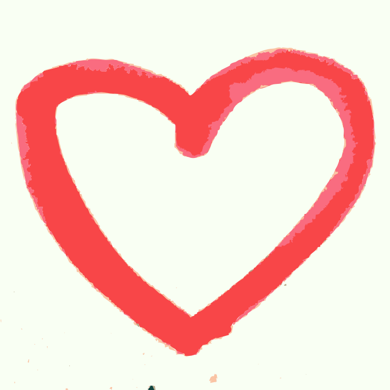 Clipart - A hand drawn heart