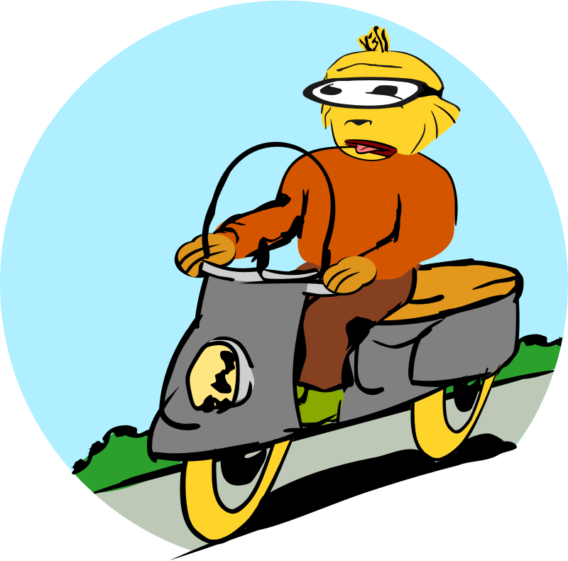 Scooter driver by rdevries - An image of a scooter driver.