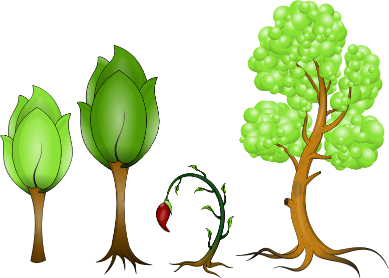 Plantas by deiby_ybied - Creado en el programa Inkscape.