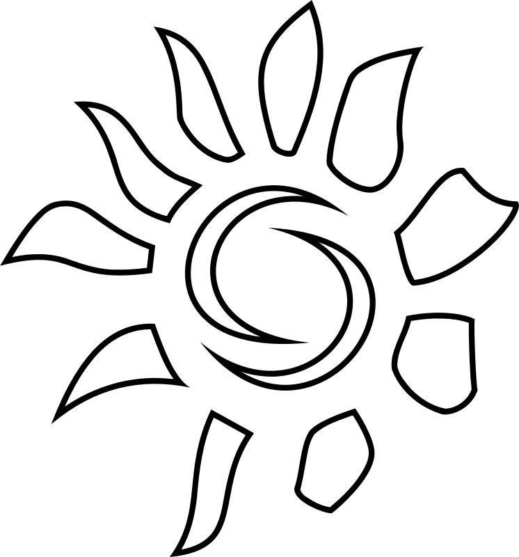 Sun Icon - Coloring Book by uroesch -  A sun icon stylized.