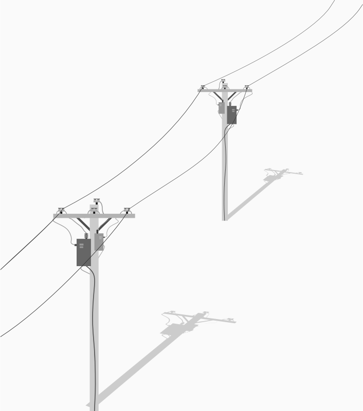 Two Telephone - Utility Poles With Wires by barrettward