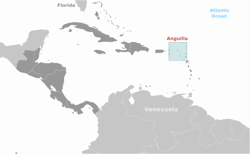 Anguilla location label by wpclipart - Country map of Anguilla location with labels