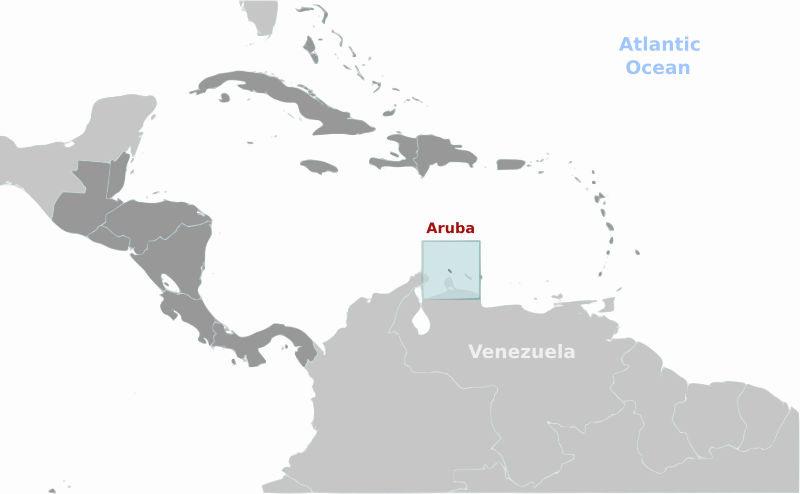 Aruba location label by wpclipart - Country map of Aruba location with labels
