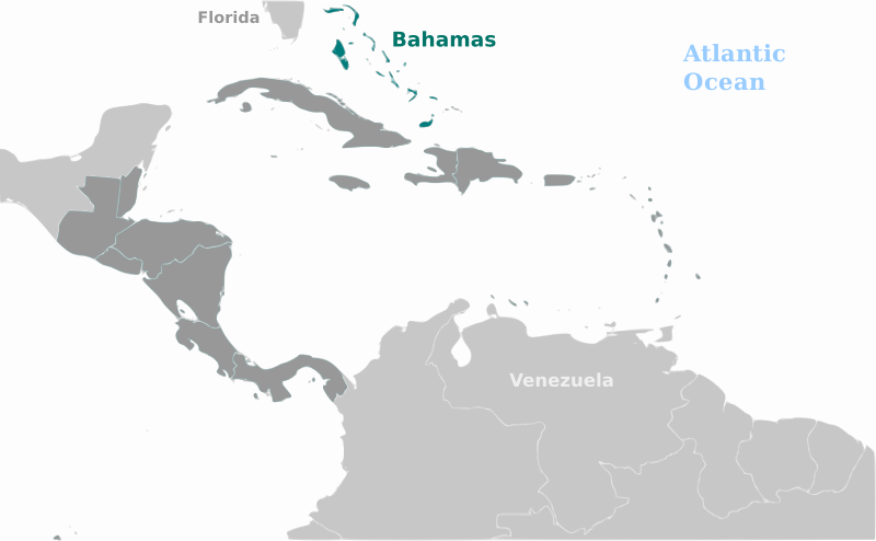 Bahamas location label by wpclipart - Map of Bahamas location with labels