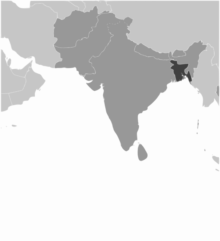 Bangladesh location by wpclipart - Map of Bangladesh location