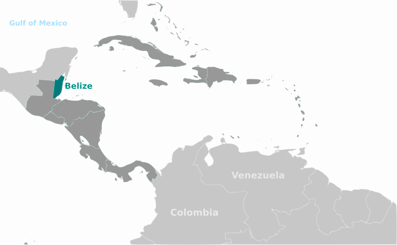 Belize location label by wpclipart - Map of Belize location with labels