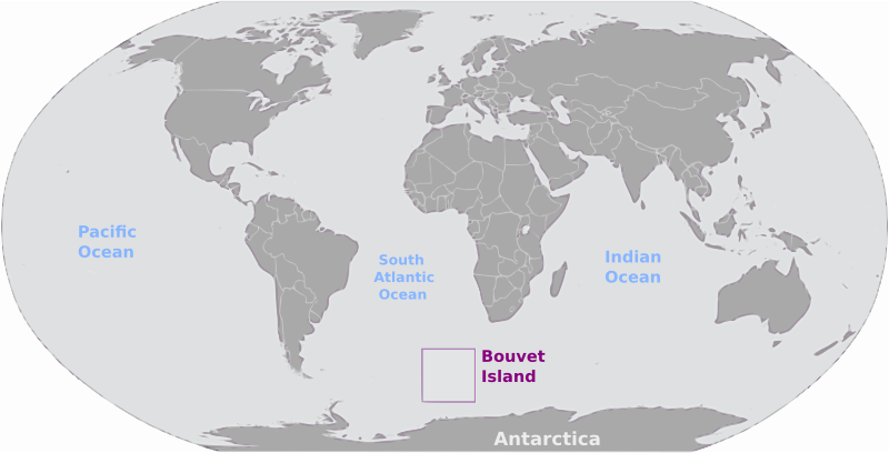 Bouvet Island location label by wpclipart - Map of Bouvet Island location with labels