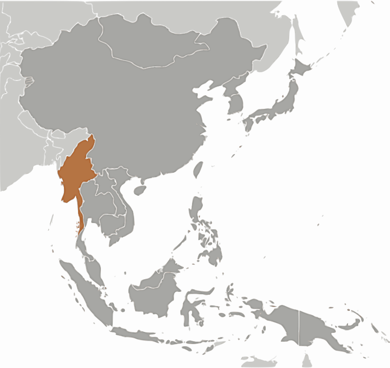 Burma location by wpclipart - Map of Burma location