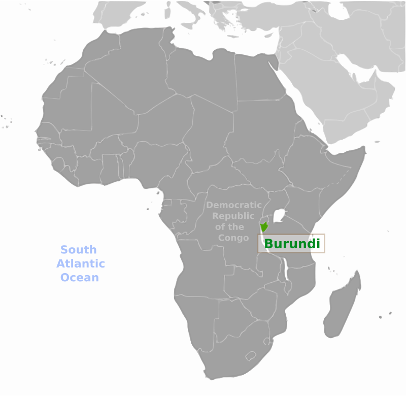 Burundi location label by wpclipart