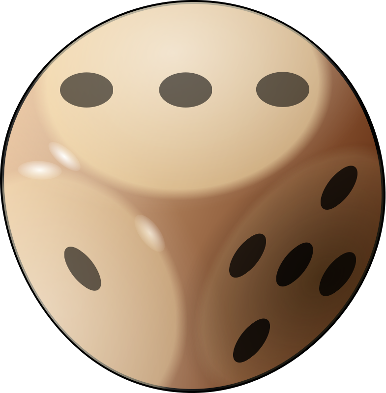dice by pierro72 - A photorealistic dice with curved edges