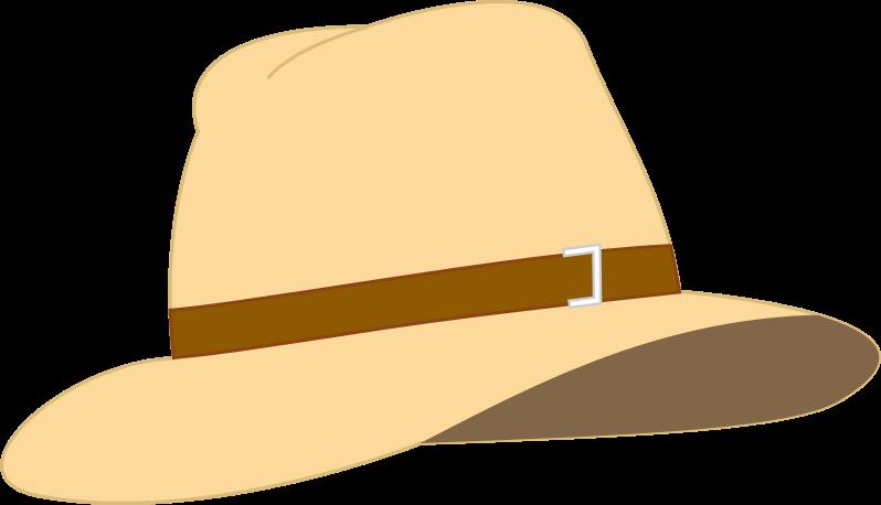 Clipart Beige Fedora Hat