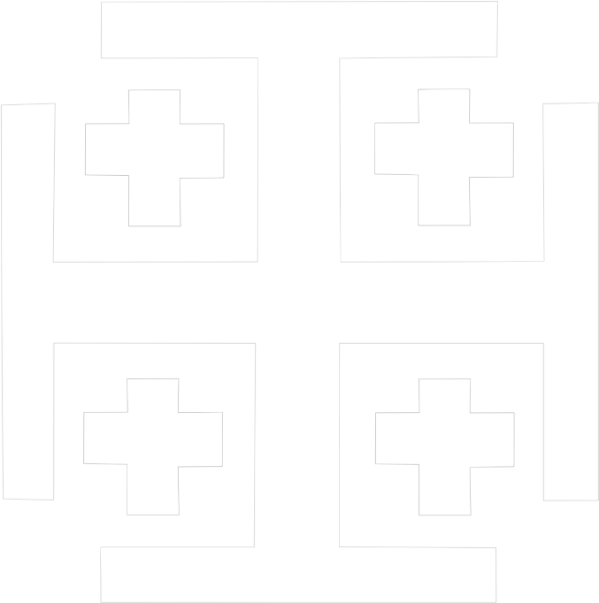 Cross by Child_of_Light - A Jerusalem/Templar cross in all white, designed in Inkscape on GNU/Linux for a website