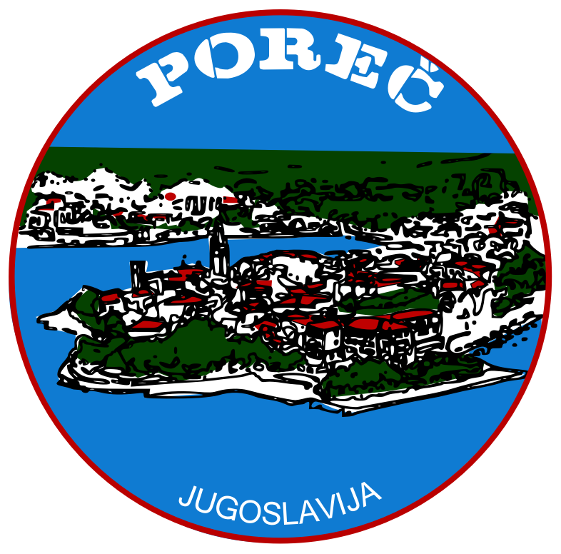 Sticker Porec by frankes - Sticker from Porec Yugoslavia.