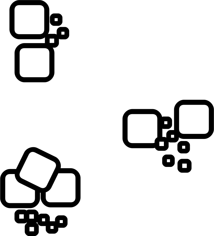Piles of Debris by evilestmark - Piles of stone debris designed as overhead RPG map elements.